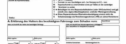 ZDK: Neues Formular zur Reparaturkostenübernahmebestätigung (RKÜB)