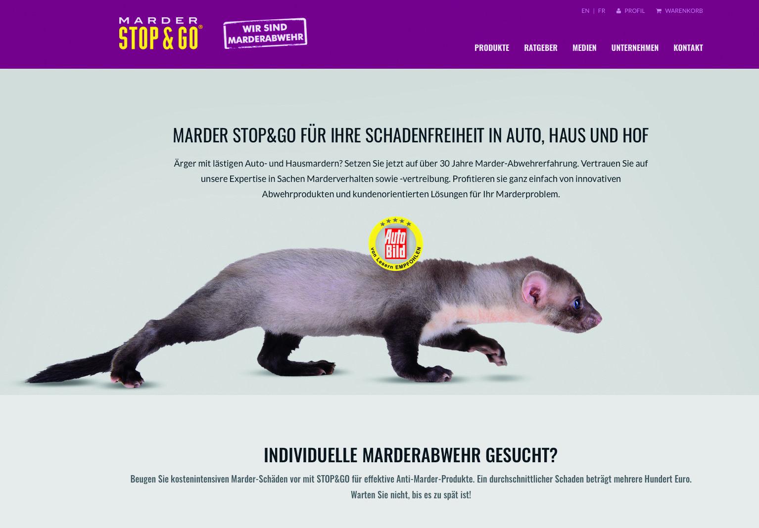 marder stop & go mit neuer internetpräsenz - krafthand
