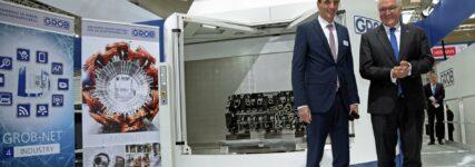 EMO: Bundespräsident Frank-Walter Steinmeier besuchte Stand der Grob-Werke
