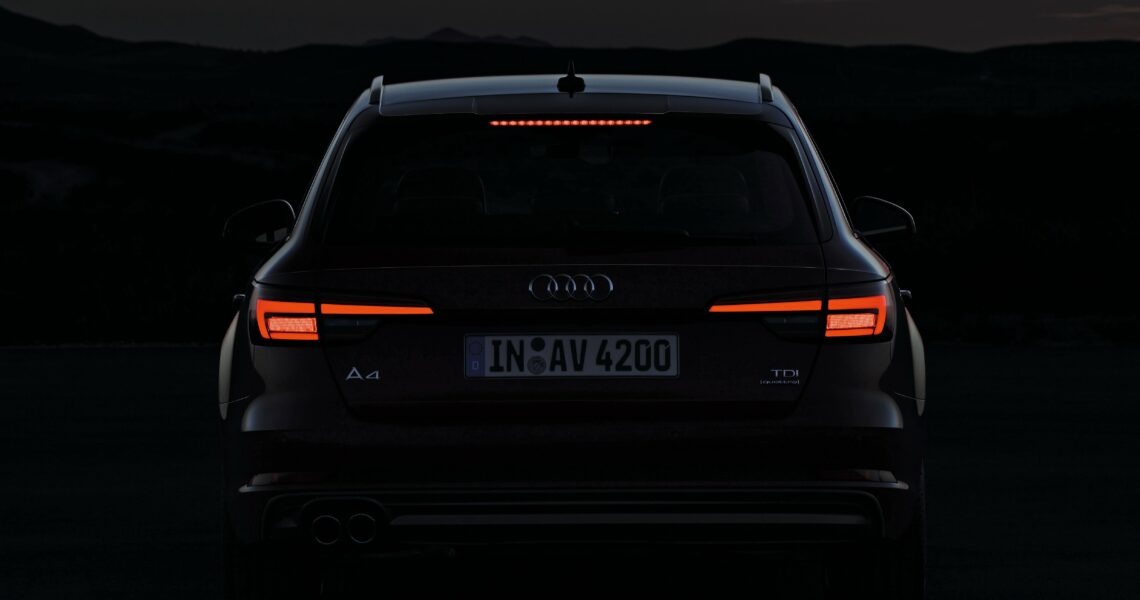 Audi A4, Heckbeleuchtung