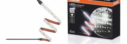 Mehr Licht im Fahrzeuginnenraum mit dem Osram-LED-Ambient-Interior-Strip-Kit