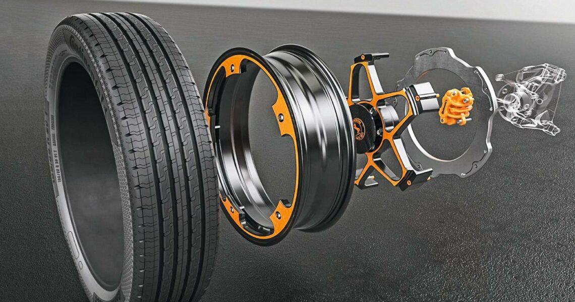 Das New Wheel Concept in Einzelteilen.