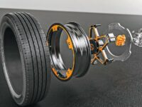 Das New Wheel Concept in Einzelteilen.