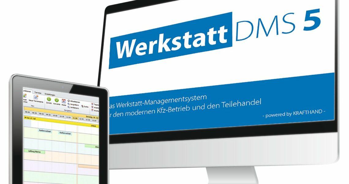 Tablett- und Bildschirmdarstellung der Software
