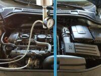 Systemreinigung freut den Motor