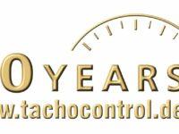 Logo 50 Jahre tachocontrol