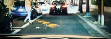 24-Zoll-Projektionen vor den Augen des Fahrers