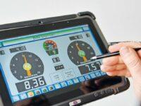 Funk-Touchscreen für die flexible Fahrzeugprüfung
