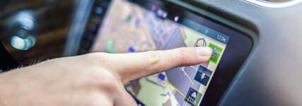 Adresseingabe in ein Navigationssystem