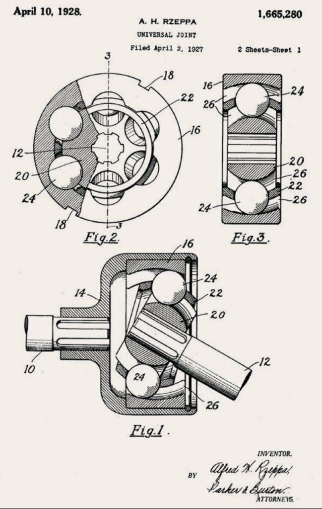 Originalzeichnung von 1928 für Patentanmeldung