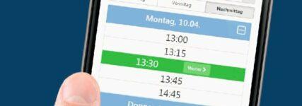 Online-Terminanfrage via Tablet oder Smartphone