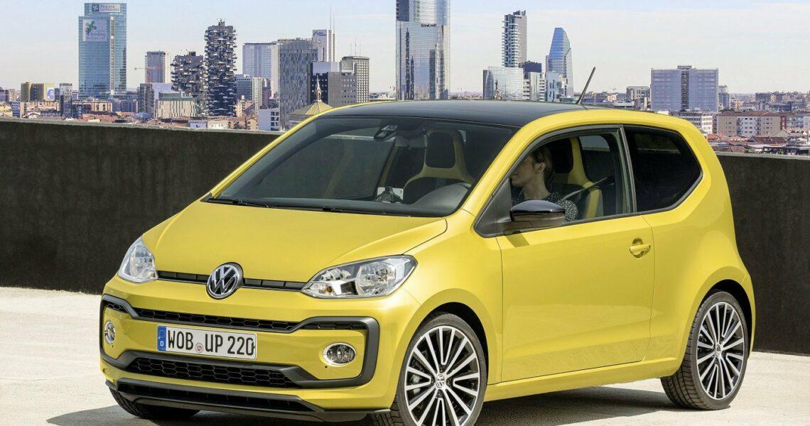 gelber VW Up