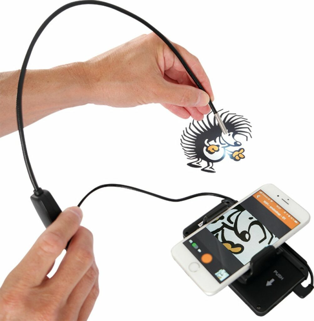 Mini-Endoskop mit Smartphone