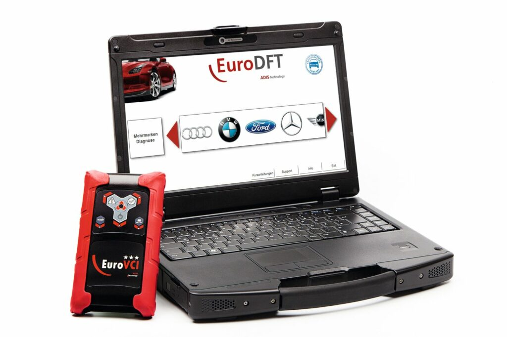 Laptop mit Interface
