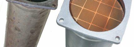 Trennungsfreie Reinigung von Rußpartikelfiltern