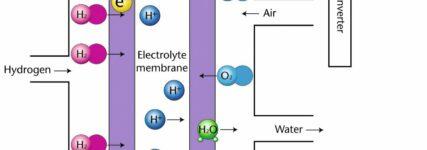 Aufbau und Arbeitsweise einer Wasserstoff-Brennstoffzelle