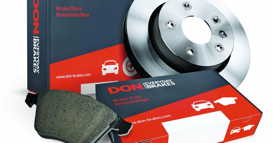 Bremsbeläge und Bremsscheibe von DON