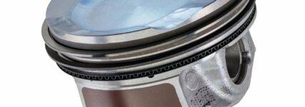 Neuer Kolben reduziert den Verschleiß