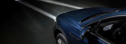 Interaktives LED-Licht am Auto