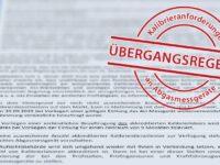 Übergangsregelungen zur AU-Geräte-Kalibrierpflicht