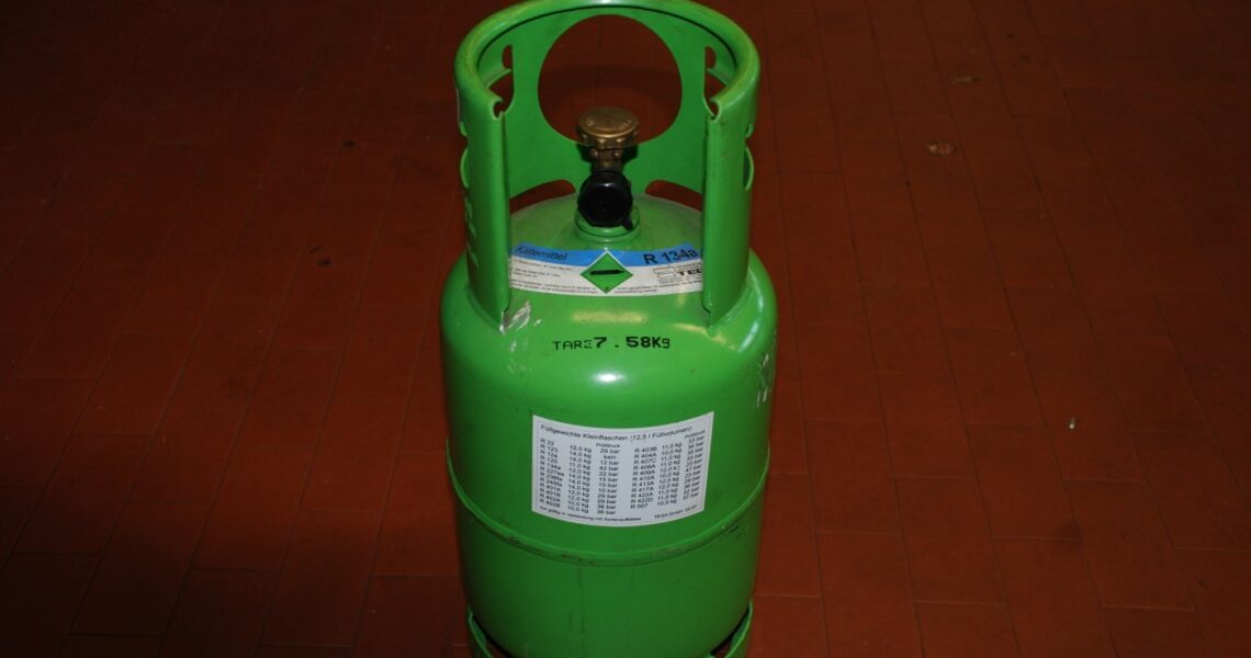 Kältemittelflasche für Kältemittel R134a