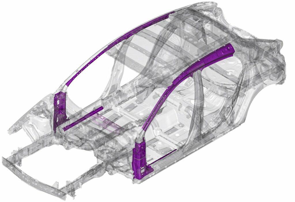 Kalt geformte Stahlteile in Mazda Karosserie