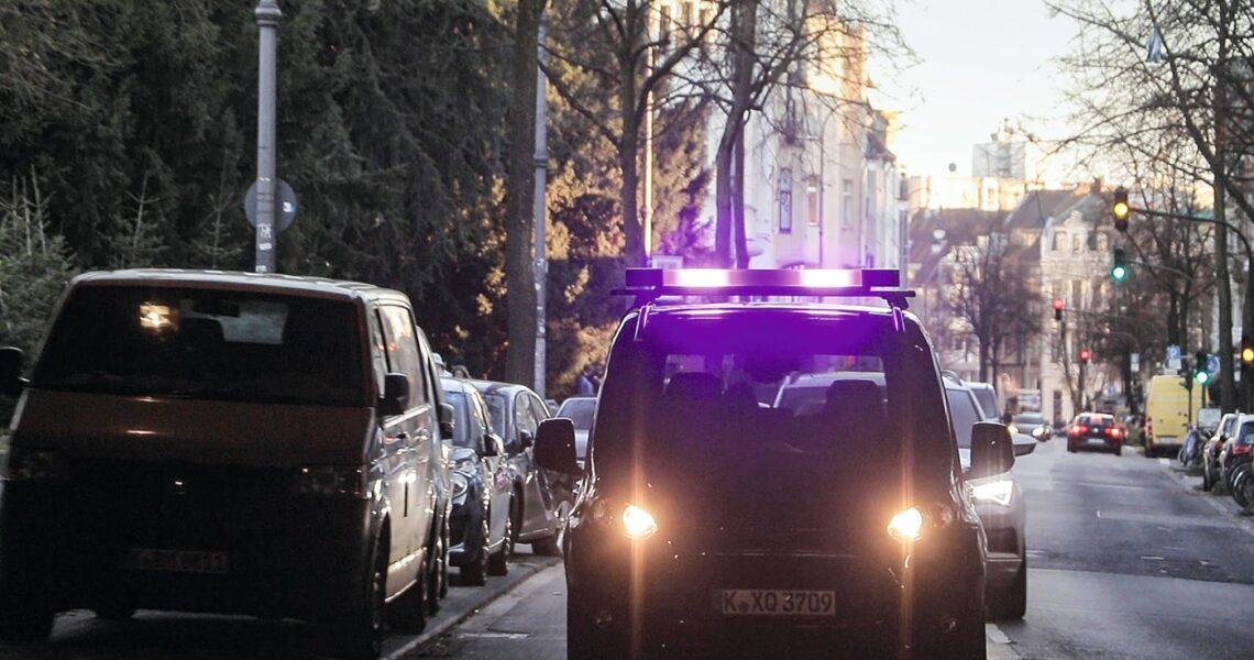 Lichtsignale eines autonomen Autos
