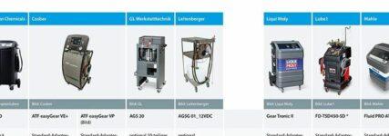 Zehn Ölspülgeräte für Automatikgetriebe