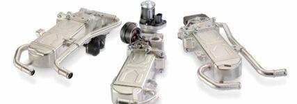 Drei AGR-Kühlermodule in Erstausrüsterqualität