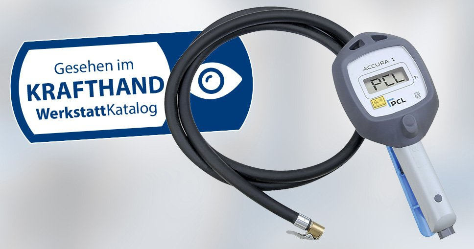 Mit dem digitalen Handreifenfüller Accura 1 lassen sich Pkw- und Lkw-Reifen sicher befüllen. Bild: PCL