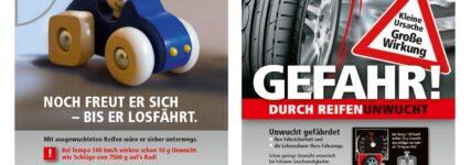 Kunden über die Gefahren von Reifenunwucht informieren