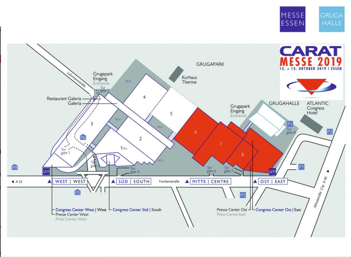 Messeplan der Carat-Messe 2019