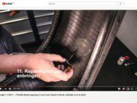 Reifen mit Nagelloch professionellreparieren