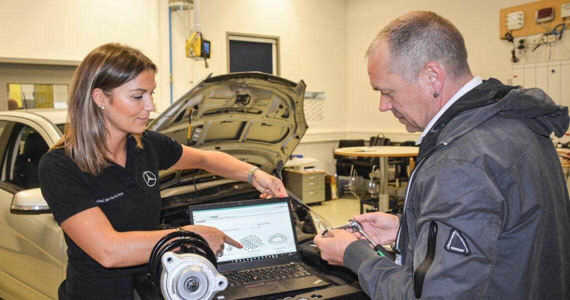 Julia Eisele, Produktmanagerin bei Mercedes-Benz und Torsten Schmidt, Chefredakteur der KRAFTHAND