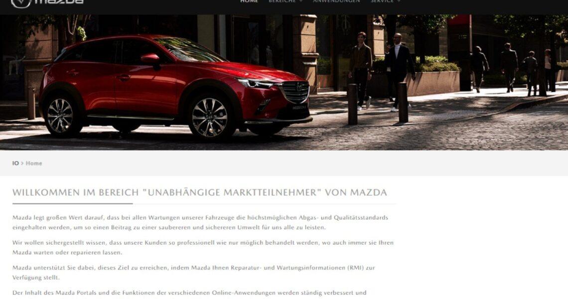 Mazda-Herstellerportal