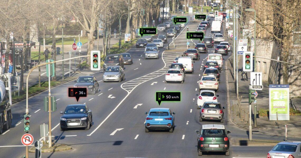 Audis Service für Ampelinformationen in Düsseldorf
