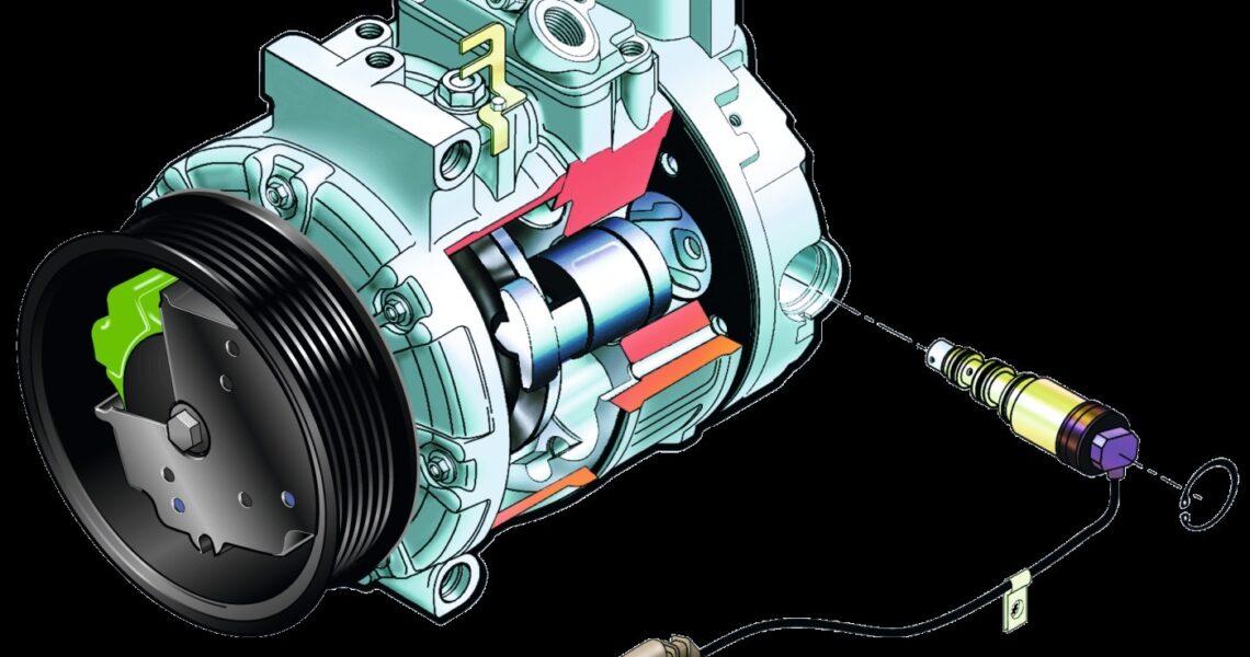 Aufbau eineKlimakompressors mit Regelventil