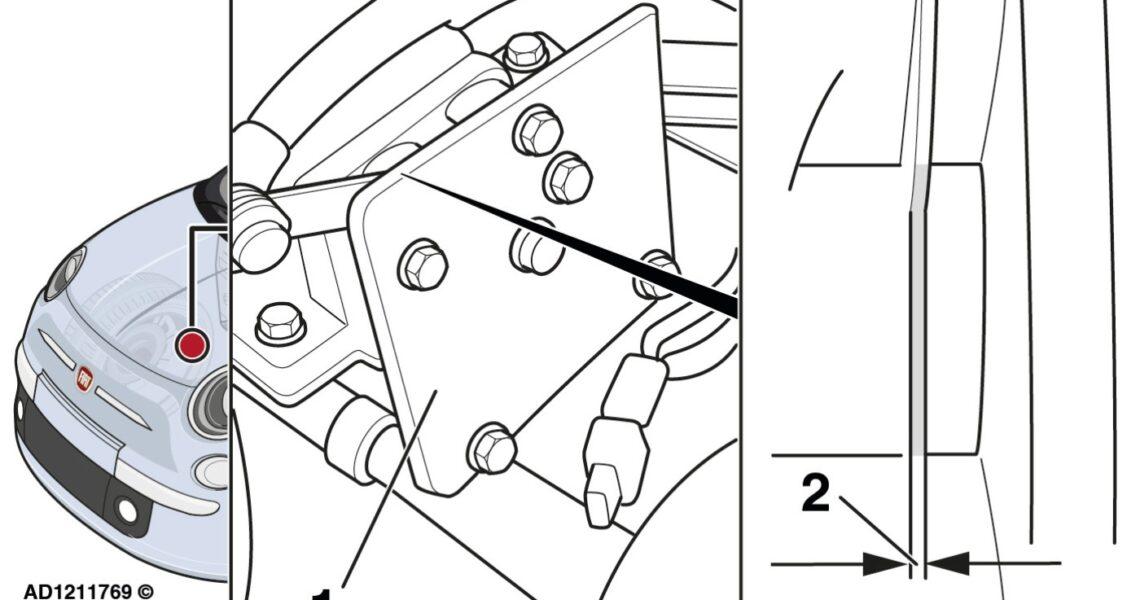 Nockenwellen-Positionssensor im Fiat 500