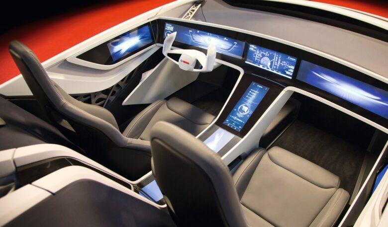 Cockpit eines modernen Autos