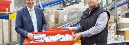 10.000 Atemschutzmasken gespendet