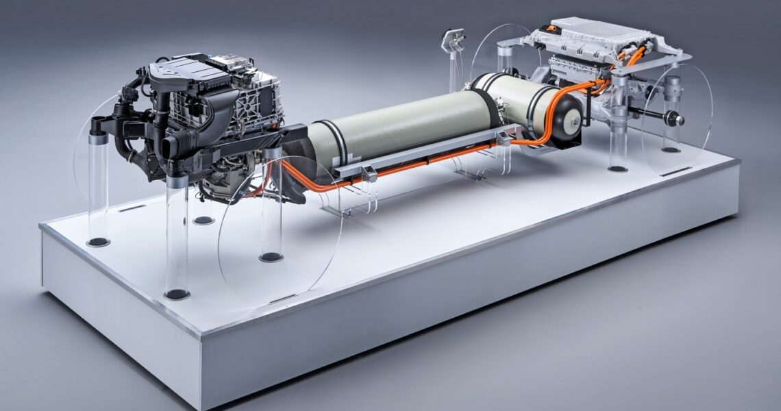 Antriebssystem des Fuel-Cell-Konzepts