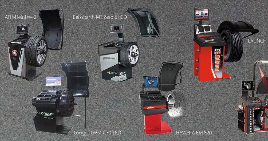 Rad-Wuchtmaschinen verschiedener Hersteller